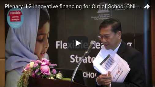3.2 Innovative Financing for Out-of-School Children: Thailand Experience