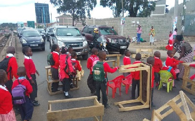Kenya: Why Are Kids Sitting At Their Desks In The Middle Of The Road?