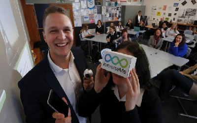 School Children Practice Foreign Languages With VR
