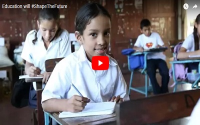 Education can #ShapeTheFuture of millions of children