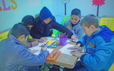 UNICEF offers education programmes for refugee children to stay on track