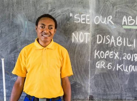 Unicef: Blind student's message – 'See our ability, not our disability'