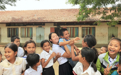 Japanese teen funds library for Cambodia school out of her pocket