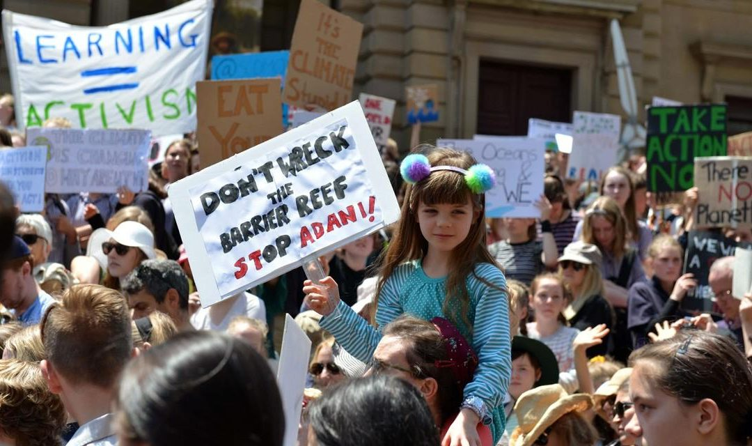 Australian children walk out of school to protest government inaction on climate change