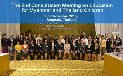 The 2nd Consultation Meeting on Education for Myanmar and Thailand Children