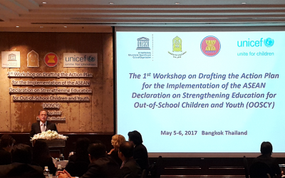 The 1st Workshop on Drafting the Action Plan for the Implementation of the ASEAN Declaration on Strengthening Education for Out-of-School Children and Youth (OOSCY)