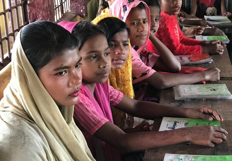 Teacher works overtime to give Rohingya girls a chance to learn