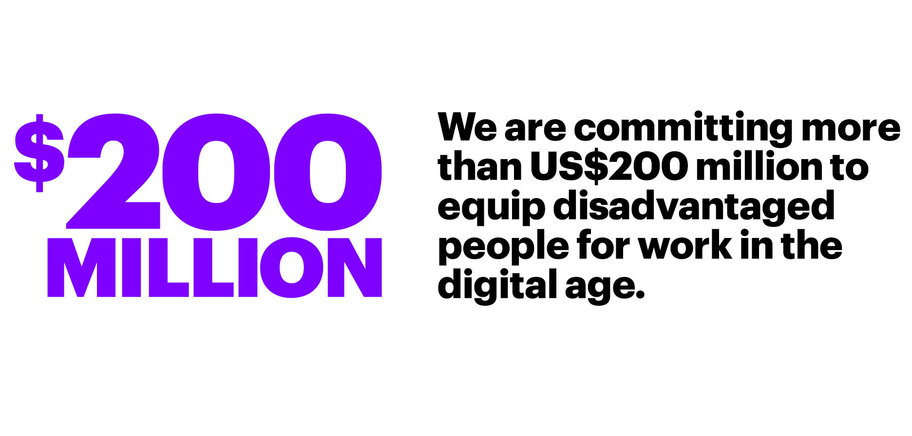 Accenture Commits US$200 Million to Education, Training and Skills Initiatives Over Next Three Years to Equip Disadvantaged People for Work in the Digital Age